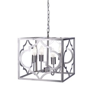 Avalyn Foyer 4-Light Square/Rectangle Chandelier