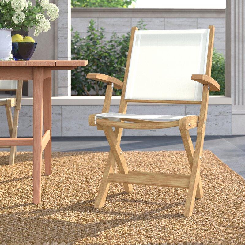 Kingsley Bate St Tropez Folding Teak Patio Dining Chair Perigold