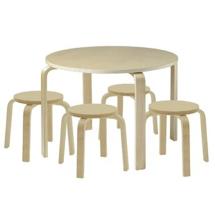 Check Prices Bentwood Kids 5 Piece Table and Stool Set ByECR4kids