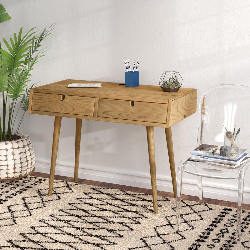 Trule Teen Aldrich Solid Wood Writing Desk U0026 Reviews   Wayfair