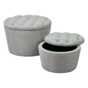 Evangelina 2 Piece Storage Ottoman Set by Willa Arlo Interiors