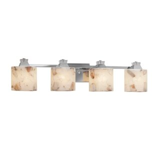 Justice Design Group Alabaster Rocks™ Ardent 4-Light Bath Bar
