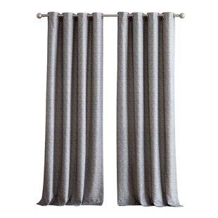 Jackson Heights Chenille Textured Jacquard Window Solid Room Darkening  Grommet Single Curtain Panel