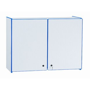 Rainbow Accents Lockable Classroom Cabinet with Doors by Jonti-Craft