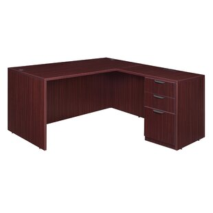 Linh Single Full Pedestal L-Shape Executive Desk