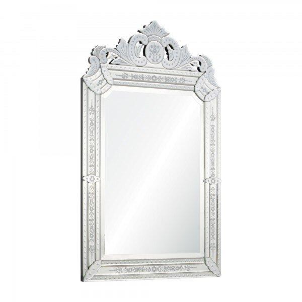 Vertical Framed Glass Wall Mirror