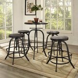 Pavel Adjustable Height Bar Stool (Set of 4) by Millwood Pines
