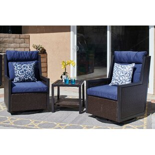 Petty Outdoor 3 Piece Seating Group with Cushions by Breakwater Bay