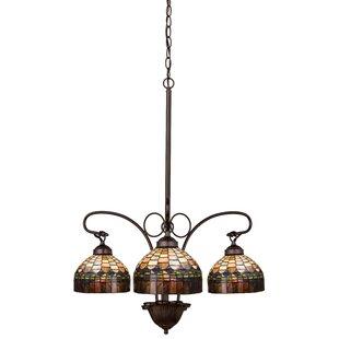 Candice olson chandelier wayfair victorian tiffany candice 3 light shaded chandelier aloadofball Gallery