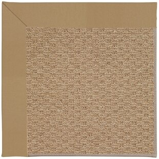 Lisle Machine Tufted Light Gold Indoor/Outdoor Area Rug