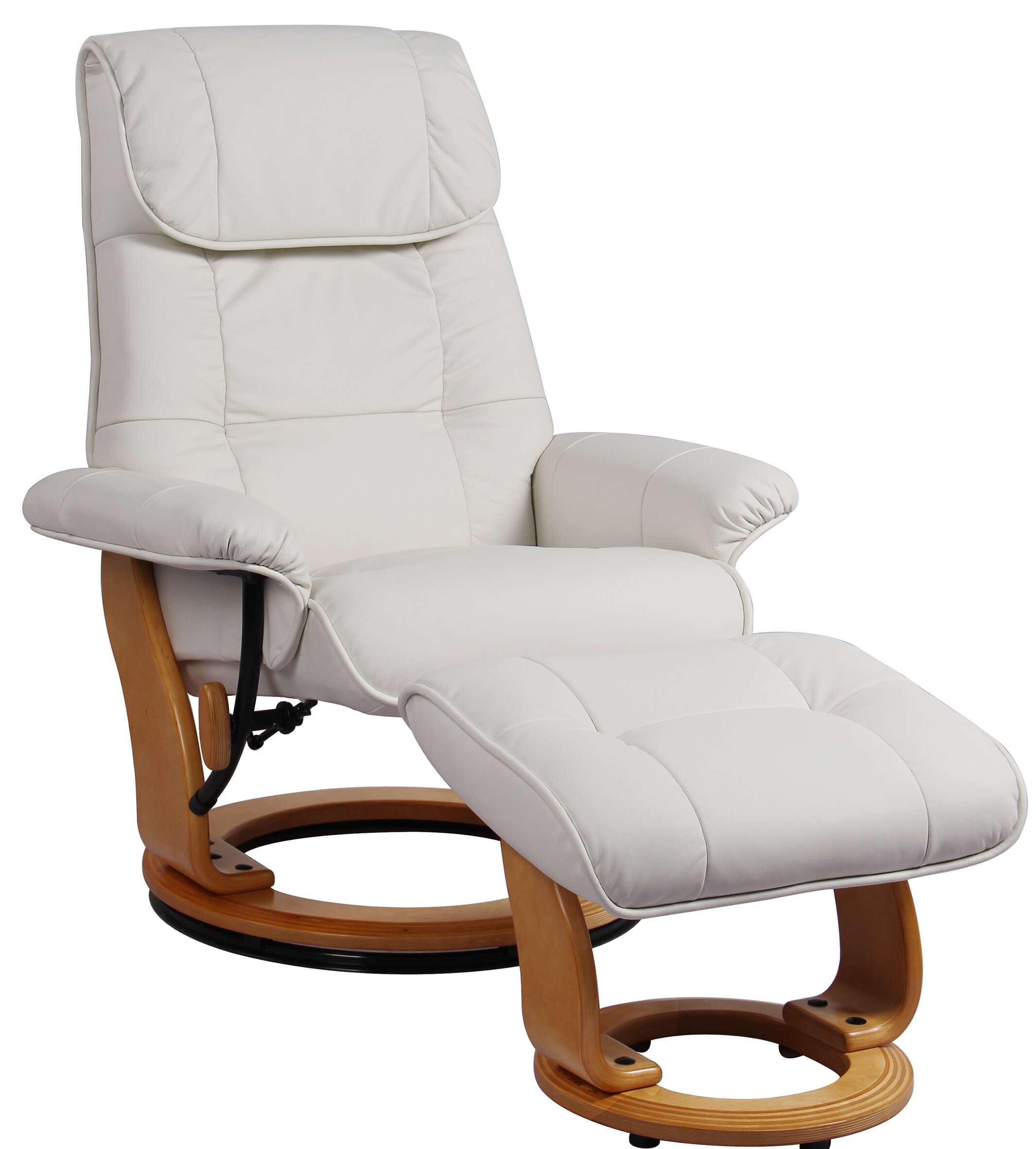 Remarkable Latitude Run Beaucet Leather Manual Swivel Recliner With Ibusinesslaw Wood Chair Design Ideas Ibusinesslaworg