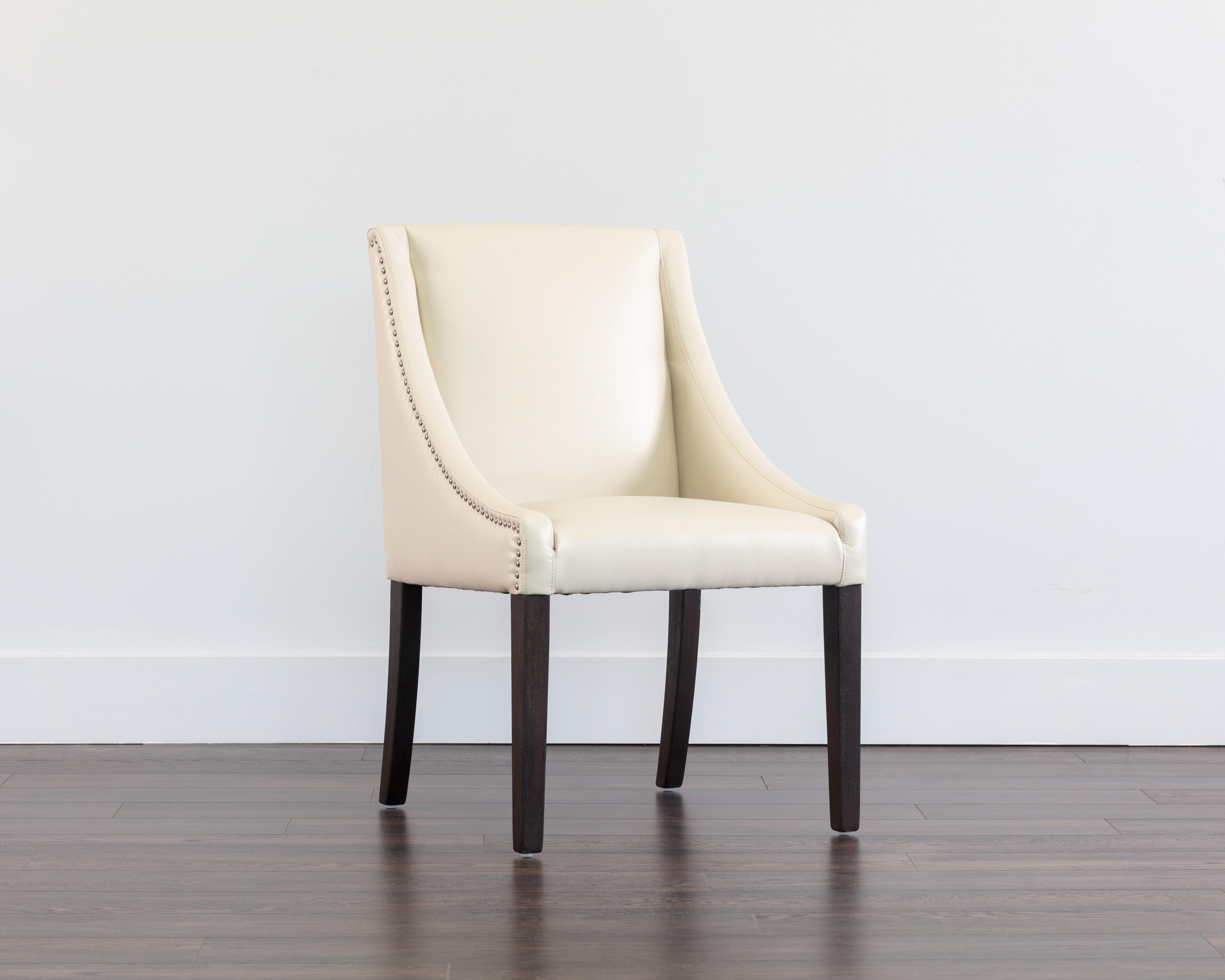 Red Barrel Studio Burgin Upholstered Parsons Chair In Cream Wayfair