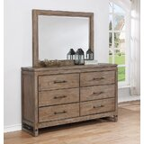 Martelli Round Rock 6 Drawer Double Dresser with Mirror by Gracie Oaks