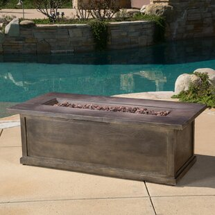 Loon Peak Stacy Wood Propane Fire Pit Table