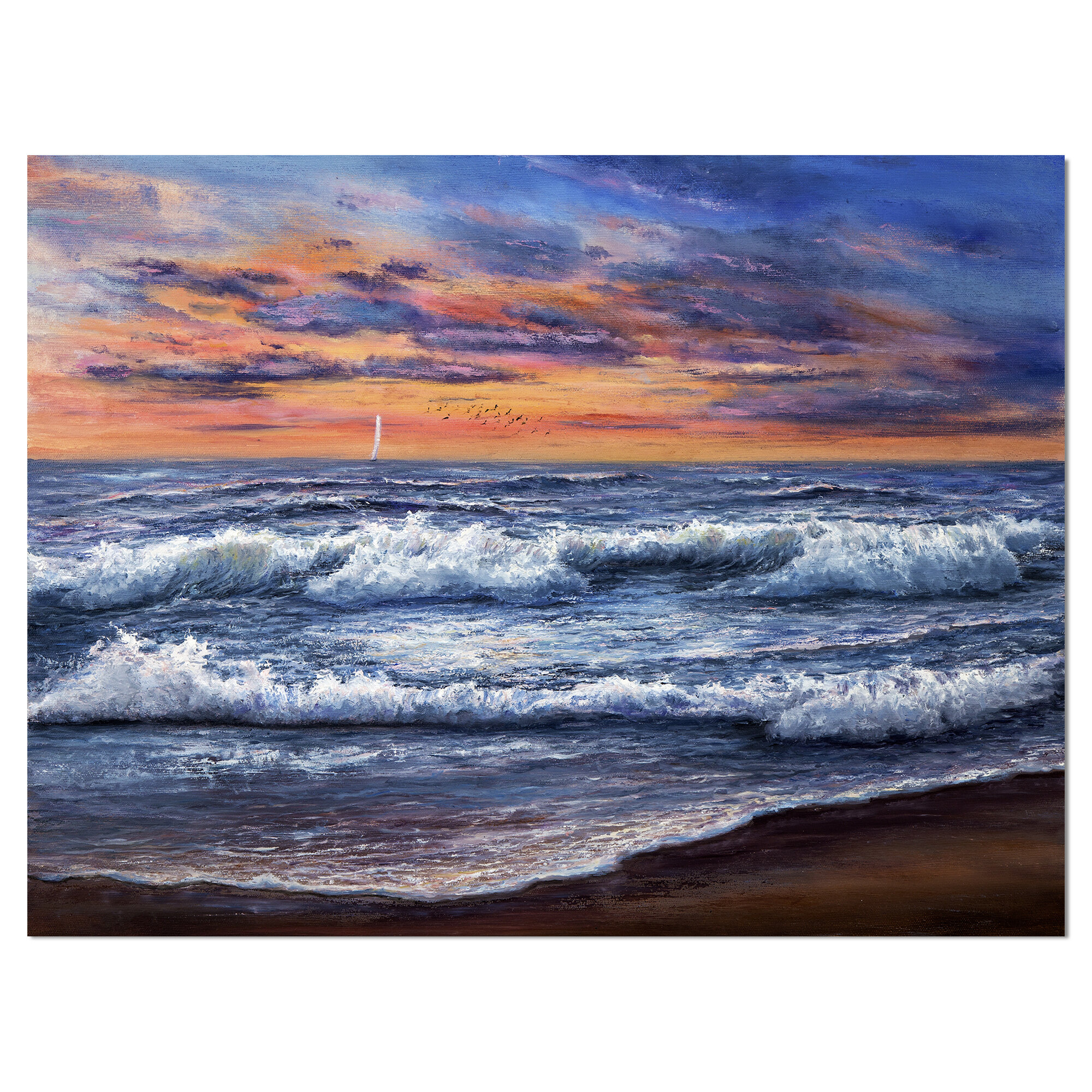 East Urban Home Ocean Waves After Storm Wrapped Canvas Graphic Art Print Wayfair