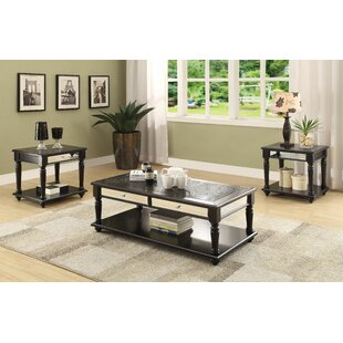 Jannie 3 Piece Coffee Table Set