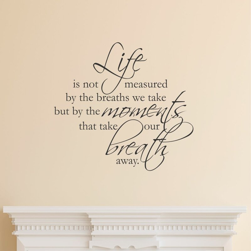 Belvedere Designs Llc Life Is Not Measured Scriptina Wall Quotes