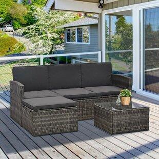 Nantan 3 Seater Rattan Corner Sofa Set By Sol 72 Outdoor