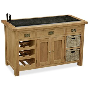 Afognak Kitchen Island With Granite Top By Union Rustic