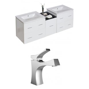 Kyra 62 Multi-layer Stain Double Bathroom Vanity Set by Orren Ellis
