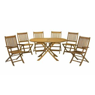 Roiguez 7 Piece Oval Dining Set Image