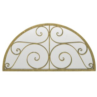 Three Hands Co. Scroll Detail Semi Circle Decorative Wall Mirror