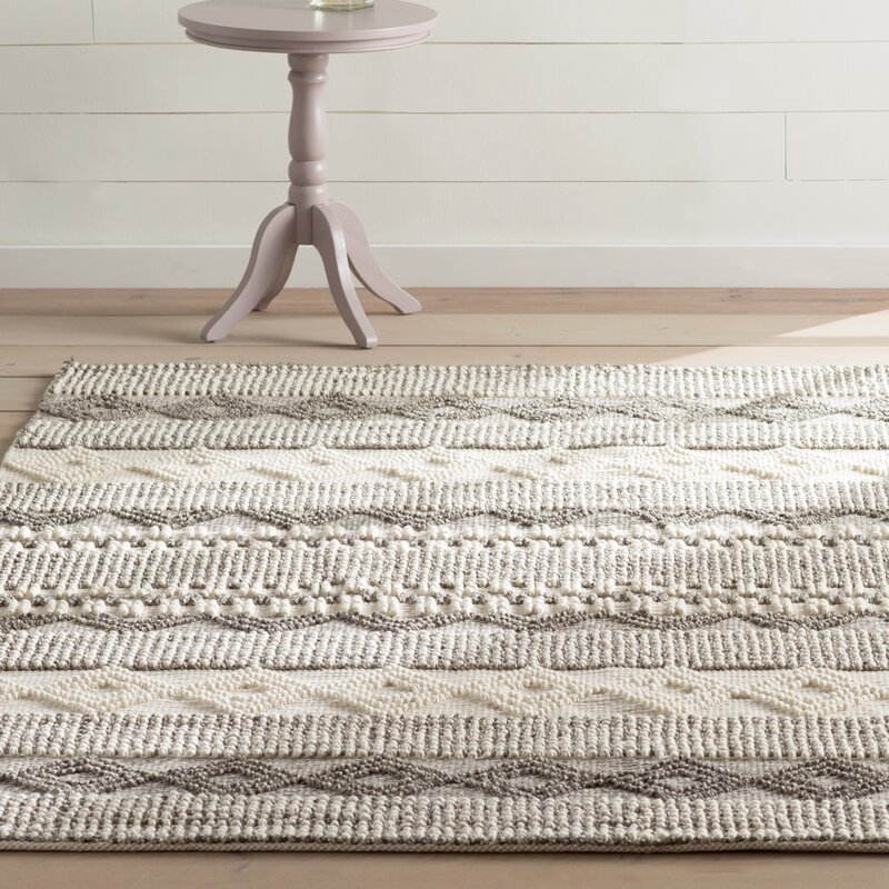 Billie Hand Tufted Cotton Wool Gray Ivory Area Rug