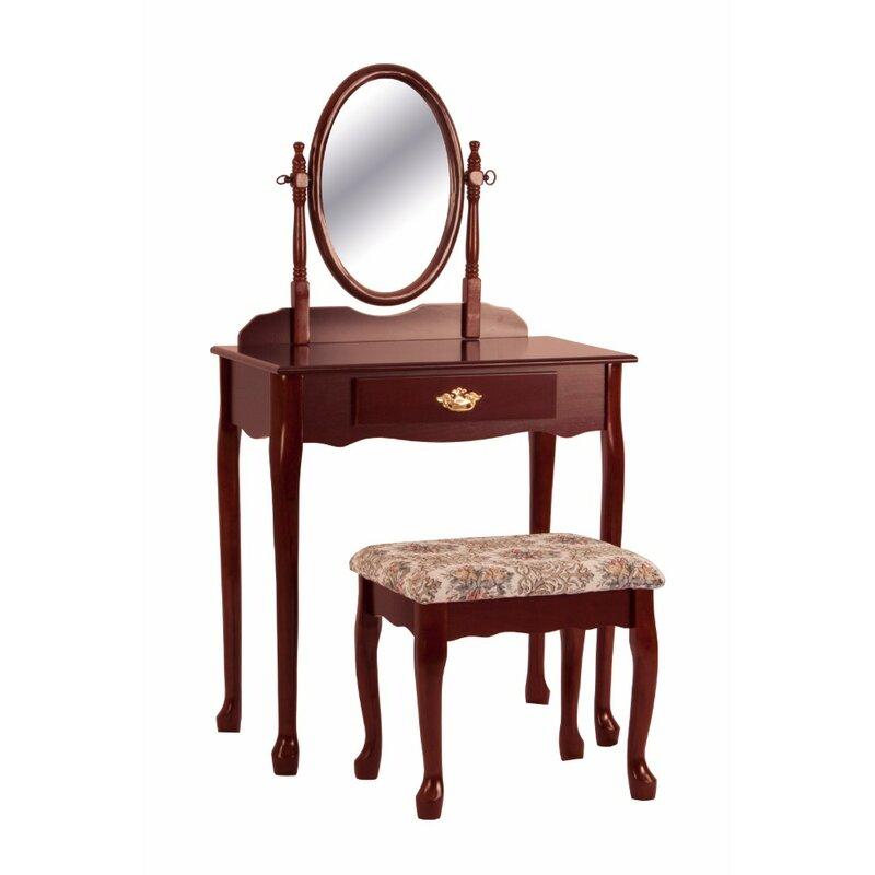 Astoria Grand Freddi Vanity Set With Mirror Wayfair