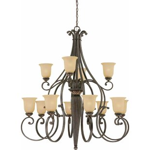 Volume Lighting Bristol 12-Light Shaded Chandelier