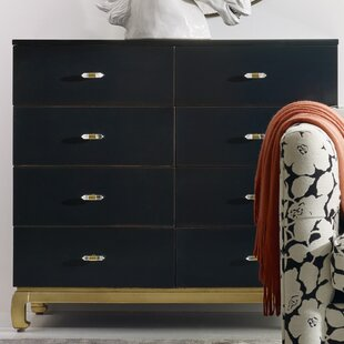 The Poet 8 Drawer Double Dresser
