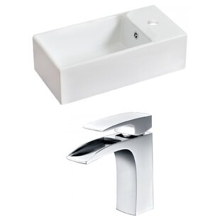 Great choice Above Counter Ceramic Rectangular Vessel Bathroom Sink with Faucet and Overflow ByRoyal Purple Bath Kitchen