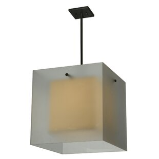 Quadrato Shadow Box 1-Light Square/Rectangle Pendant by Meyda Tiffany