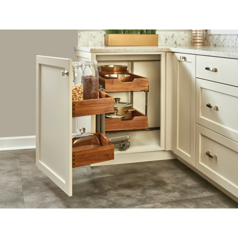Rev-A-Shelf Blind Corner Cabinet Organizer Pull Out Pantry ...