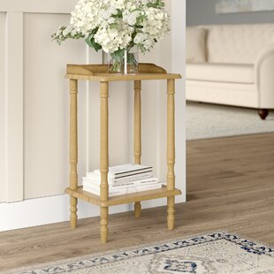 Review Rectangular Rubberwood Side Table