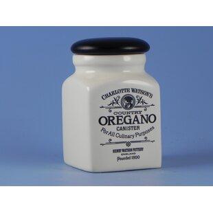 Charlotte Watson Herb / Spice Jar - Oregano by Henry Watson Pottery