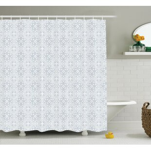 Bowker Authentic Figures With Floral Geometric Properties Artistic Old Single Shower Curtain