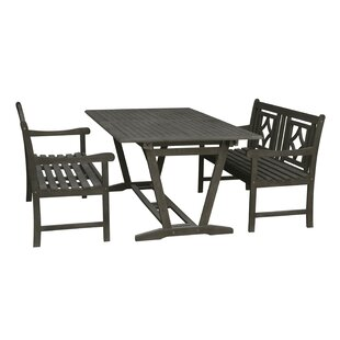 Almyra 3 Piece Patio Dining Set