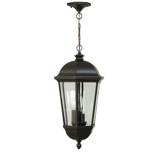 Great Price Oakhill 3-Light Aluminum Outdoor Hanging Lantern By Charlton Home