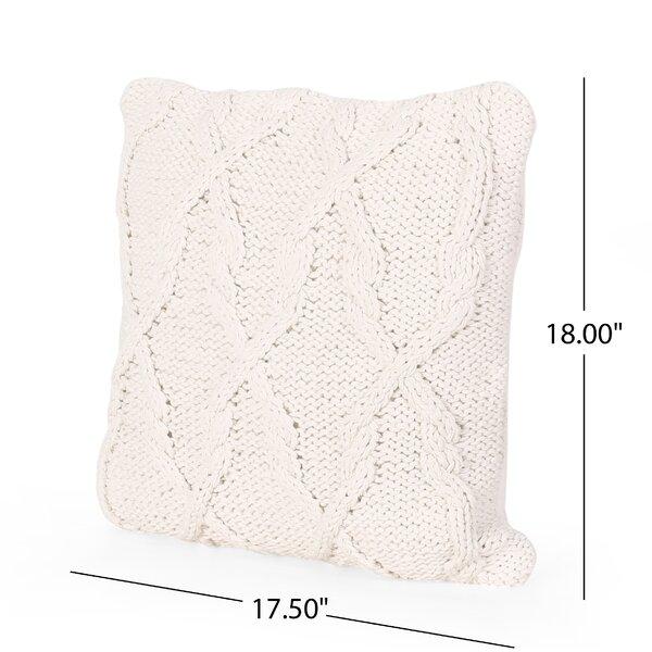 Gracie Oaks Peavler Cotton Geometric Throw Pillow Cover Reviews Wayfair