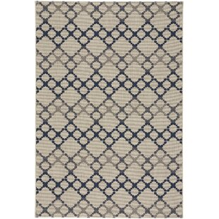 Olmead Blue/Beige Indoor/Outdoor Area Rug