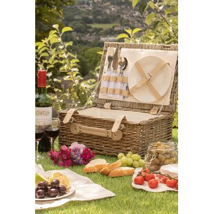 Fitted Picnic Basket By Alpen Home