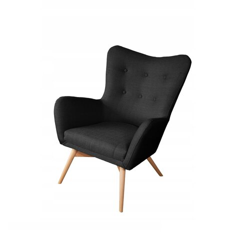 Ali Wingback Chair Isabelline Upholstery Colour: Graphite