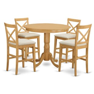 Trenton 5 Piece Counter Height Pub Table Set East West Furniture