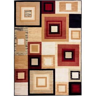 Ayala Squares Area Rug By Ebern Designs
