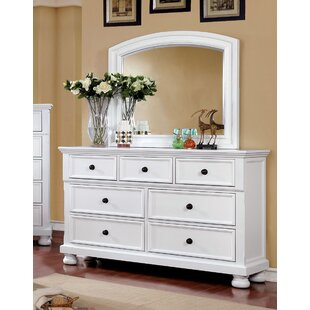 Compare Hoch 7 Drawer Dresser with Mirror by Alcott Hill