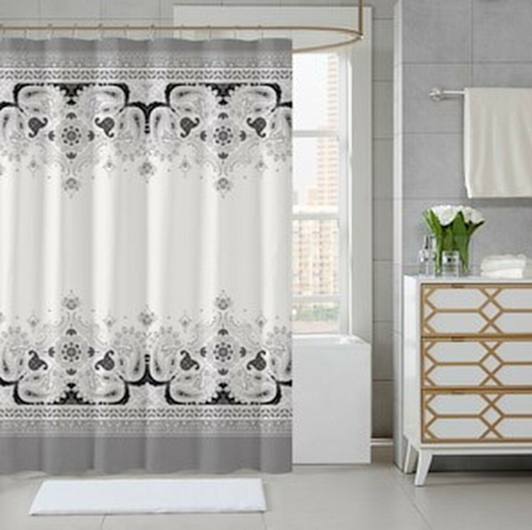 Hiatt Printed Luxury Single Shower Curtain
