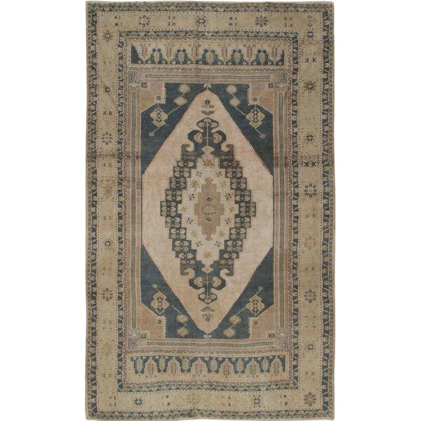 5 x 7 Vintage hemp oushak kilim rug