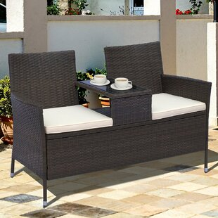 Yatendra Rattan Love Seat By Sol 72 Outdoor