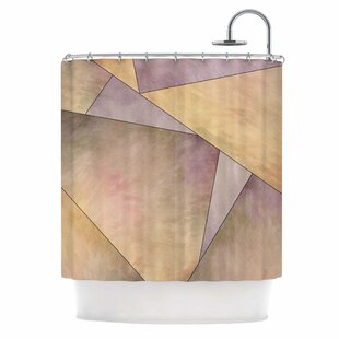 'Fracture' Digital Single Shower Curtain By East Urban Home