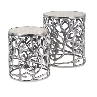 Rosecliff Heights Cliffside 2 Piece End Table Set
